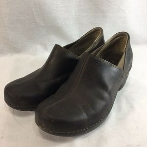 Patagonia Shoes Clogs Deep Espresso Brown Leather